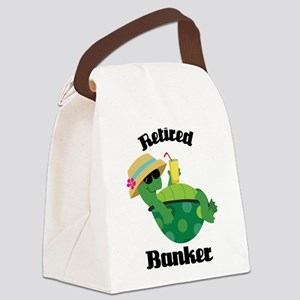 Retired Banker Gift Canvas Lunch Bag